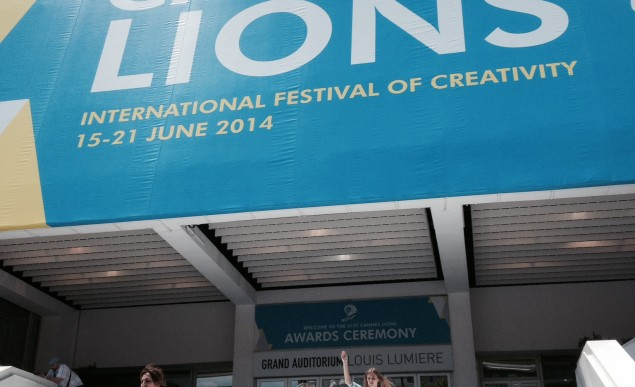 Cannes Lions Palais steps day